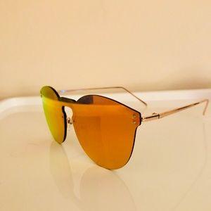 Red/Orange Mirrored Sunglasses